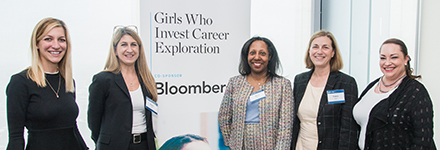 Girls Who Invest event participants