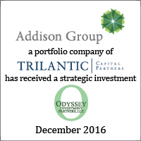 Addison Group Has Received a Strategic Investment from