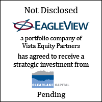 EagleView has agreed to receive a strategic investment from Clearlake Capital