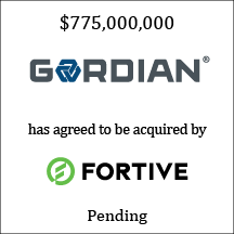 Gordian has agreed to be acquired by Fortive