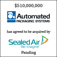 Automated Packaging Systems Has Agreed to be Acquired by Sealed Air