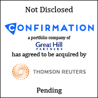 Confirmation, a portfolio company of Great Hill Partners, has agreed to be acquired by Thomson Reuters