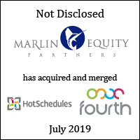 Marlin Equity Partners has acquired and merged HotSchedules and Fourth