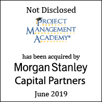 Project Management Academy has been acquired by Morgan Stanley Capital Partners