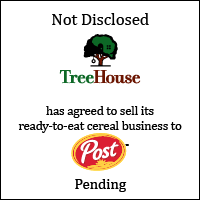 TreeHouse Foods, Inc. has agreed to sell it's ready-to-eat cereal business to Post Holdings, Inc.