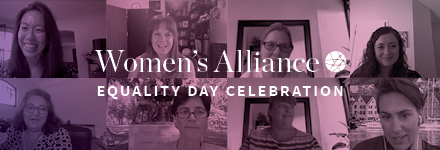 Collage of photos from the Women's Alliance Equality Day Celebration