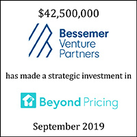 Bessemer Venture Partners has made a strategic investment in Beyond Pricing