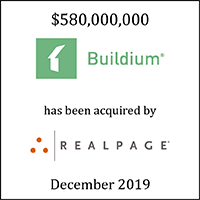 Buildium has agreed to be acquired by RealPage
