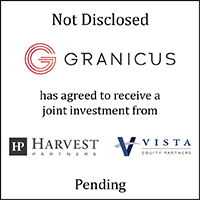 Granicus (logo) has agreed to receive a strategic investment from Harvest Partners (logo) and Vista Equity Partners (logo)