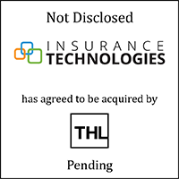 Insurance Technologies (logo) has agreed to be acquired by THL (logo), Pending