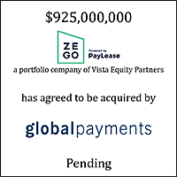 Zego (logo) Has Agreed to be Acquired by Global Payments (logo)