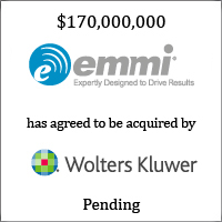 Emmi Solutions has agreed to be acquired by Wolters Kluwer