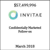 Invitae Confidentially Marketed Follow-on March 2018