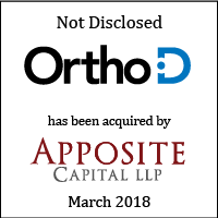 OrthoD has been acquired by Apposite Capital LLP March 2018